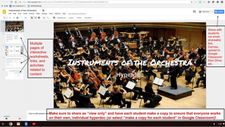 Instruments of the Orchestra Hyperdoc PIC 1